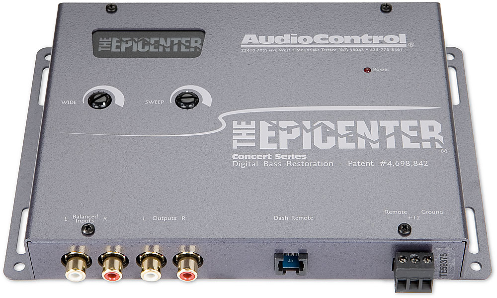 Audio control epicenter installation