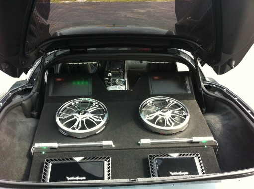 Chevrolet Corvette Subwoofer Installation