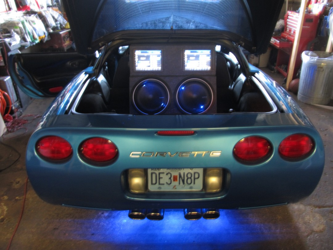Corvette Custom Subwoofer Installation