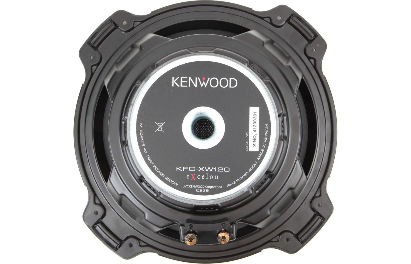 Kenwood KFC-XW120 Excelon Series 12-inch 4-ohm Subwoofer