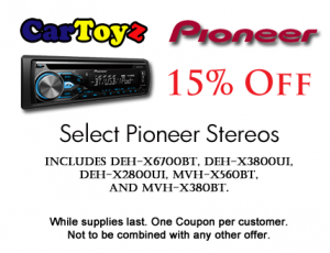 15% Off Select Pioneer Stereos