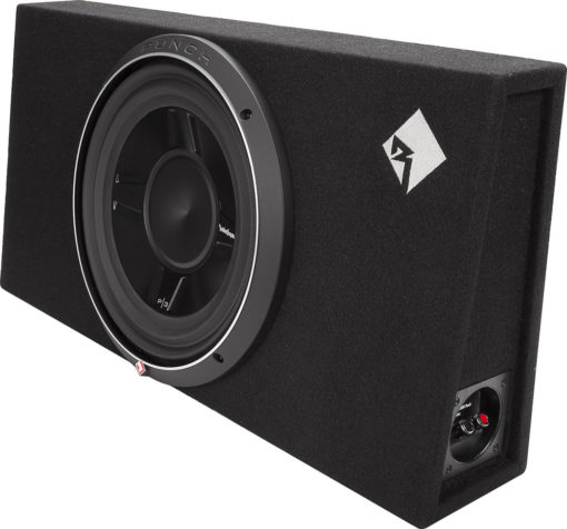 Rockford Fosgate P3S-1X12 Sealed Enclosure with 12-inch Punch Shallow Subwoofer